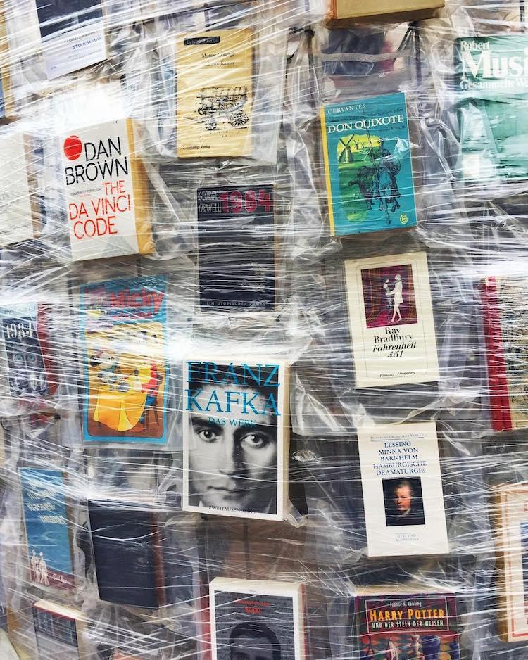 Partenón de libros prohibidos, por Cultura Inquieta