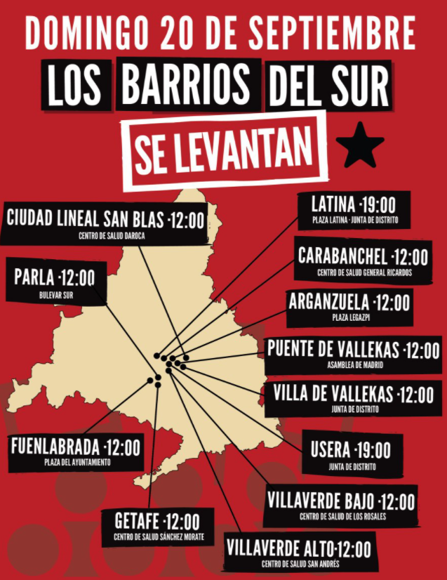 Barrios del Sur de Madrid se levantan 2020